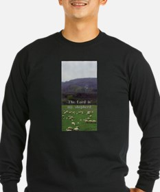 The Lord is My Shepherd - Design 4 Long Sleeve T-S