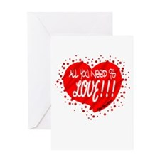 All You Need Is Love-The Beatles Greeting Cards