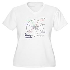 Amazing Unit Circle Women's Plus V-Neck T-Shirt