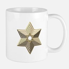 3-D Silver and Gold Star of David Mug