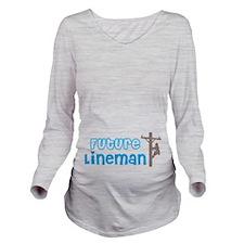 Future Lineman Long Sleeve Maternity T-Shirt