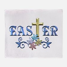 Easter Cross Throw Blanket