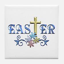 Easter Cross Tile Coaster