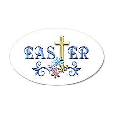 Easter Cross Decal Wall Sticker