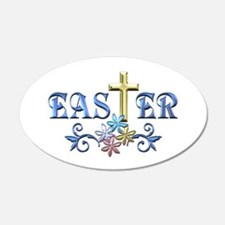 Easter Cross Wall Decal
