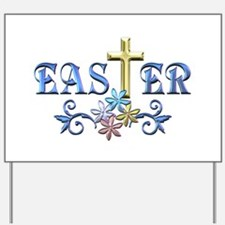 Easter Cross Yard Sign