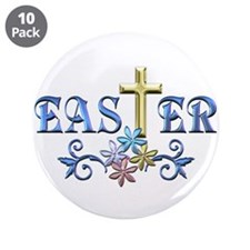 "Easter Cross 3.5"" Button (10 pack)"