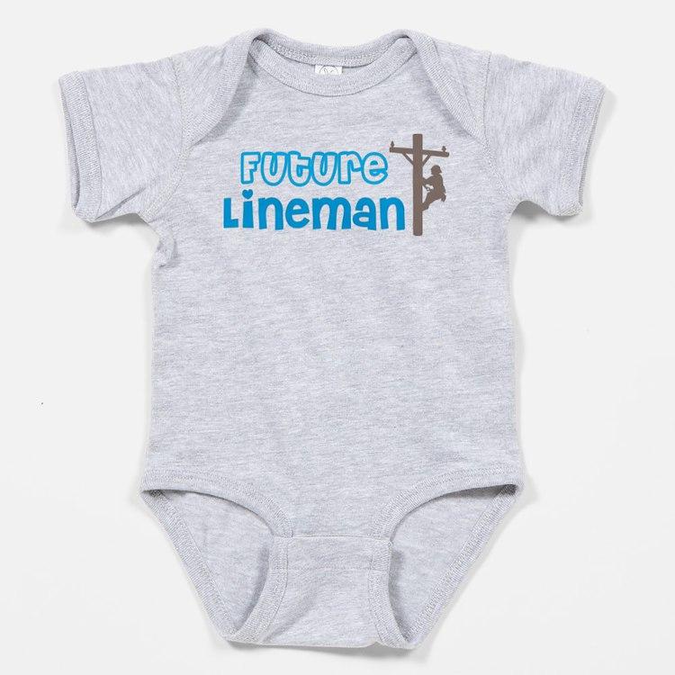 Future Lineman Baby Bodysuit
