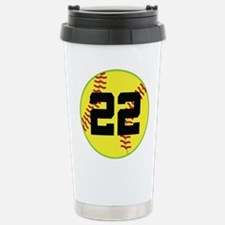 Softball Sports Player Number 22 Stainless Steel T