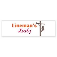 Linemans Lady Bumper Bumper Sticker