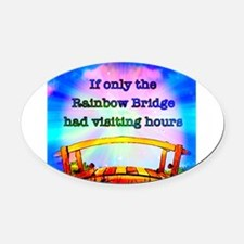 Rainbow Bridge Oval Car Magnet