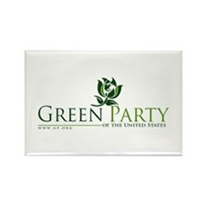 Cute Green party Rectangle Magnet