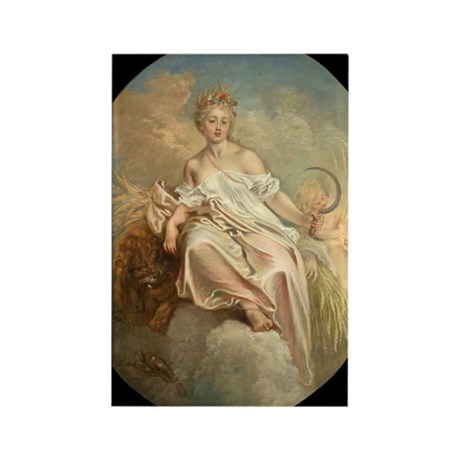 Antoine Watteau - Ceres (Summer) Rectangle Magnet