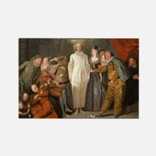 Antoine Watteau - The Italian Com Rectangle Magnet