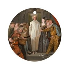 Antoine Watteau - The Italian Comed Round Ornament