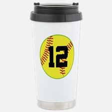 Softball Sports Player Number 12 Stainless Steel T