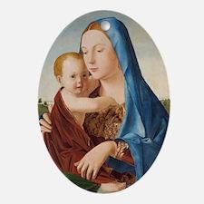 Antonello da Messina - Madonna and C Oval Ornament