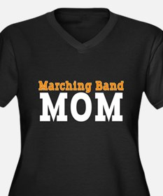 Band Mom Women's Plus Size V-Neck Dark T-Shirt