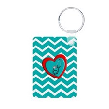 Nurse Medical Chevron Blue Keychains