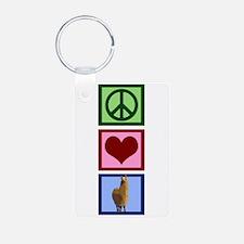 Peace Love Rhinos Keychains