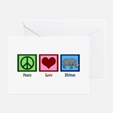 Peace Love Rhinos Greeting Card