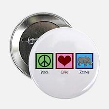 "Peace Love Rhinos 2.25"" Button"