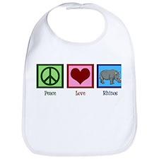 Peace Love Rhinos Bib
