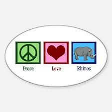 Peace Love Rhinos Decal