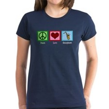 Peace Love Saxophones Tee