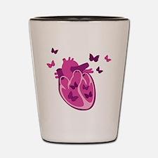 Butterflies Heart Shot Glass