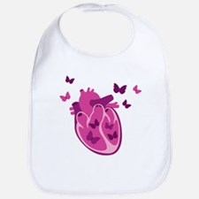 Butterflies Heart Bib