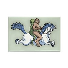 Bigfoot Alien Unicorn Rectangle Magnet (10 pack)