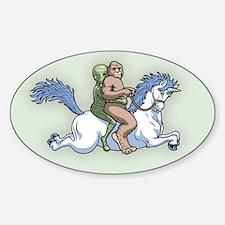Bigfoot Alien Unicorn Bumper Stickers