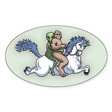 Bigfoot Alien Unicorn Decal