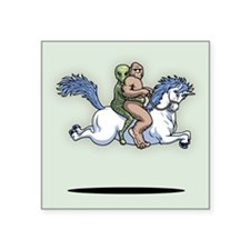 "Bigfoot Alien Unicorn Square Sticker 3"" x 3"""