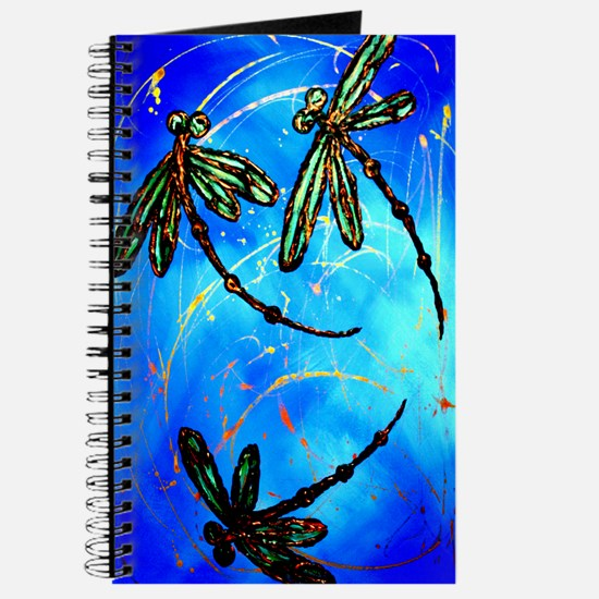 Dragonfly Flit Electric Blue Journal