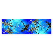 Dragonfly Flit Electric Blue Bumper Car Sticker