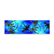 Dragonfly Flit Electric Blue Car Magnet 10 X 3