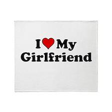 I Heart my Girlfriend Throw Blanket