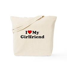 I Heart my Girlfriend Tote Bag