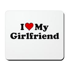I Heart my Girlfriend Mousepad