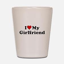 I Heart my Girlfriend Shot Glass