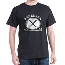 Baseball Player Custom Number 83 T-Shirt