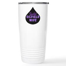 Spoiled Oilfield Wife Oil Drop Purple Travel Mug