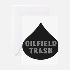 Oilfield Trash Oil Drop Greeting Cards
