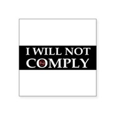 anti obama I will not complyddbump Sticker