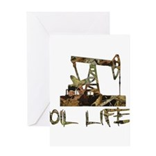 Camo Oil Life Greeting Cards