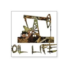 Camo Oil Life Sticker