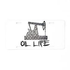 Diamond Plate Oil Life Pumpjack Aluminum License P