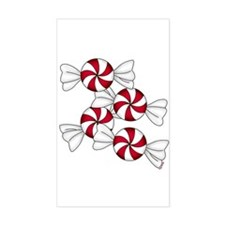 Peppermint Candy Rectangle Decal